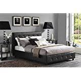 Leather Bed Frame Queen Amazon Com Leather Beds Frames U0026 Bases Bedroom Furniture