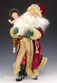 santa and baby jesus 16 inch world santa and baby jesus santa claus figurines and