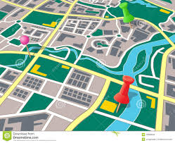 Map With Pins Street Clipart Road Map Pencil And In Color Street Clipart Road Map
