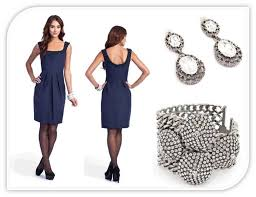 neck navy blue lela rose bridesmaid dress with beading detail