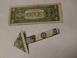1 one dollar bill money arrow origami paper folding tutorial