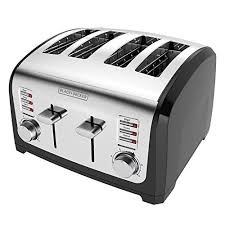BLACK DECKER 4 Slice Toaster Stainless Steel T4030