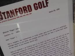 tiger woods stanford recruitment letter business insider