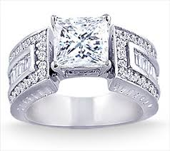 wide band engagement rings 2 75 carat wide band diamond engagement ring