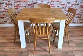 Rustic Reclaimed Dining Set With SquareLeg Table And Beech Chairs - Beech kitchen table