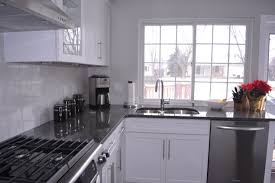 kitchens white cabinets steel gray granite carrara marble