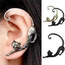 ear earring cat bite ear cuff wrap clip earring pluto99
