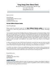 cover letter for early childhood educator child development associate cover letter