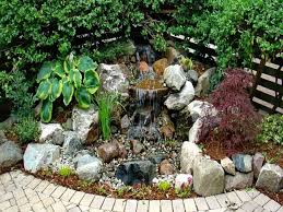 small pond with waterfall raised garden ideas outdoor 2017 rock