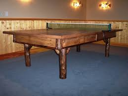 Custom Rustic Ping Pong By Barons Billiards CustomMadecom - Designer ping pong table
