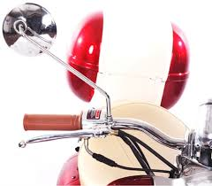 retro 50 49cc moped scooter w chrome mirrors aluminum