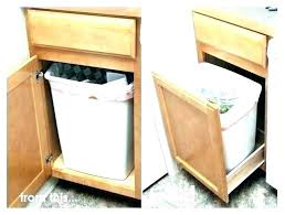 kitchen trash can ideas in cabinet kitchen garbage cans stylish kitchen trash can