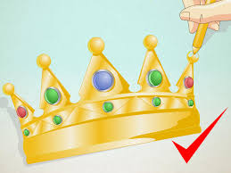 2 easy ways to draw a crown with pictures wikihow