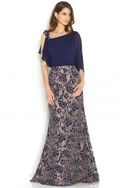 jora collection collection floral embroidered dress in navy