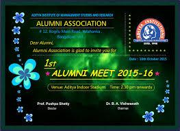 Alumni Meet Invitation Card Invitation Card For Alumni Meet Infoinvitation Co