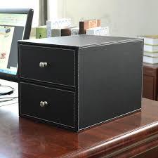 Desktop Filing Cabinet Online Shop High Grade Leather Desktop Data Storage Box Drawer