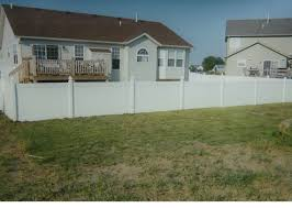 green vinyl privacy fence fences