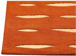Area Rugs Orange Wink Collection Tufted Wool Area Rug In Orange Design By Mat