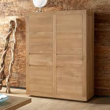 Oak Storage Cabinet Ethnicraft Flat Oak Storage Cupboard Solid Wood Furniture