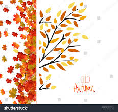 autumn background colorful leaves thanksgiving design stock vector