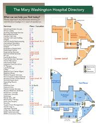 Rogers Centre Floor Plan by Mary Washington Hospital Virginia Hospital