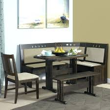 lovely corner kitchen table with storage bench free form metal 2