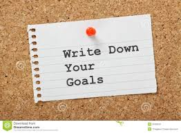 write a paper write down your goals royalty free stock photography image 35306037 royalty free stock photo