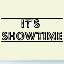 amazon com it u0027s showtime vinyl wall decal decor home theater
