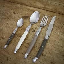 laguiole flatware set linen 24 piece u2013 brookfarm generalstore