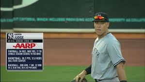 Aaron Judge Made His Mlb Debut In Center Field - bronx bomber ball on twitter that created player you made in
