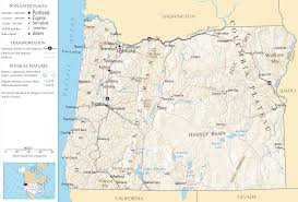 Map Of Portland Map Of Oregon Relief Map Worldofmaps Net Online Maps And