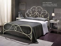 awesome picture of white rod iron bed frame including curved white