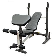 amazon com marcy folding standard weight bench easy storage