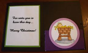 homemade christmas cards in purple stamping with princess