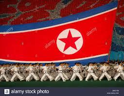 Mass Flag North Korean Flag During The Arirang Mass Games At May Day Stadium
