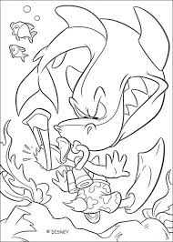 donald duck diving sharks coloring pages hellokids