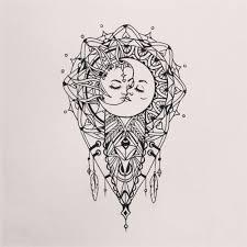 the sun the moon and the prettiest mandala tattoos on
