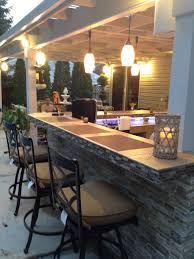 Patio 26 Outdoor Kitchens Decor Best 25 Stone Bar Ideas On Pinterest Basement Bar Designs