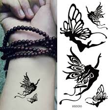 piercing black butterfly pattern design paper tattoos