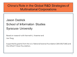 Universities As Multinational Enterprises The Multinational China S In The Global R D Strategies Of Multinational