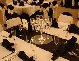 Black Table Centerpieces by Chair Covers Of Lansing Table Decorations