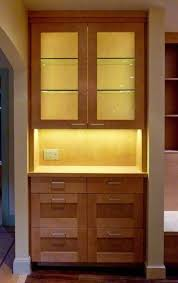 freestanding wooden kitchen cabinet with led strip lights house