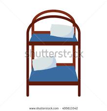 Cartoon Bunk Bed by Illustrator Bed Stock Vector 555483400 Shutterstock