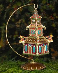strongwater pagoda ornament