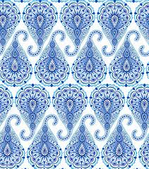 intricate blue paisley pattern traditional seamless
