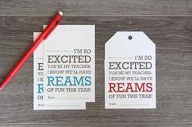 easy back to teacher gift idea u0026 printable ream of paper