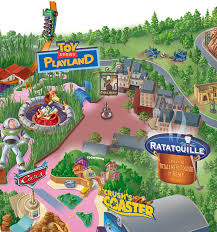 Disney Hollywood Studios Map Map Of Disneyland Paris And Walt Disney Studios Visiting