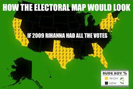 chicago map meme 2009 rihanna electoral map electoral college map parodies
