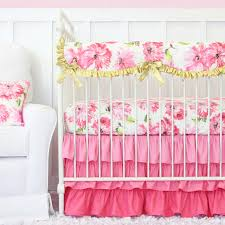 Pink Chevron Crib Bedding Nursery Beddings Pink And Gold Chevron Crib Bedding With Pink