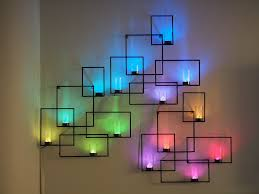 enhance the appearance of your room using light wall art warisan